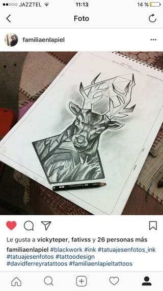 Tattoo ciervo precio de risa