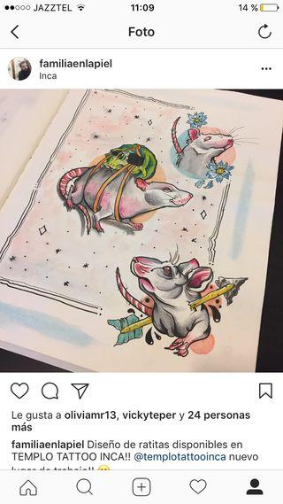 Tattoo ratas ofertas!!