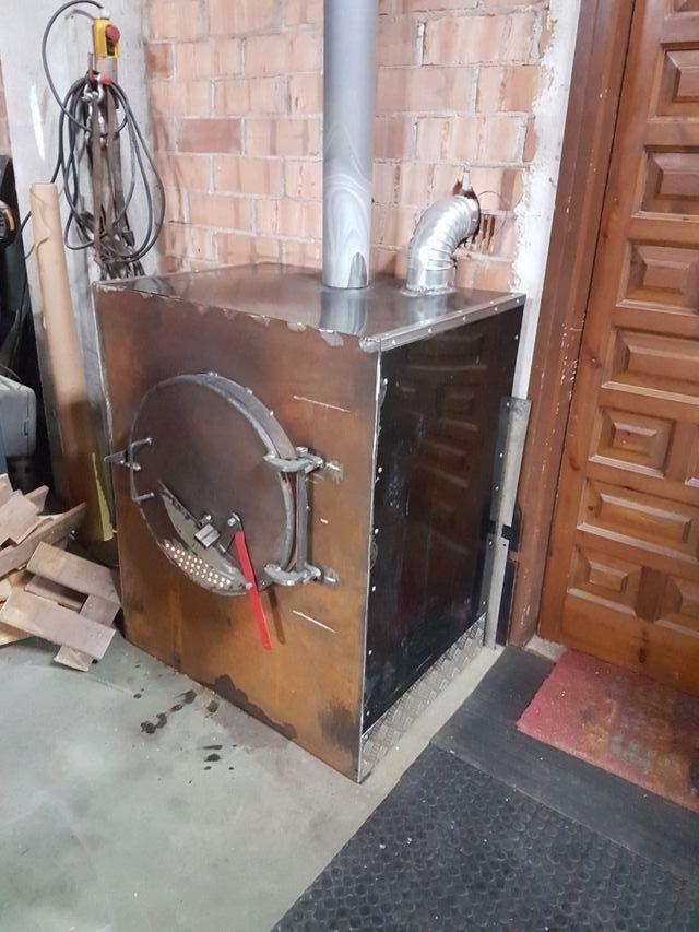 estufa de leña industrial