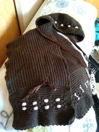 conjunto bufanda y capota