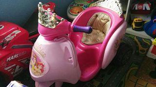 moto princesas bateria