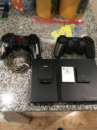Consola ps2 dos memory Card muchos juegos