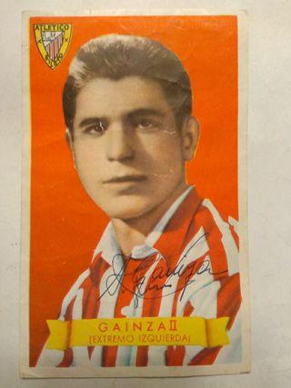 Cromo original Atl. Bilbao Gainza II firmado