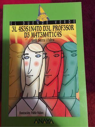 Libro El Asesinato del Profesor de Matemáticas