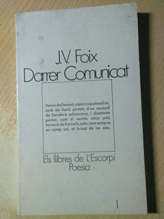 Libro, darrer comunicat, J.V.Foix