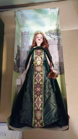 muñeca barbie princesa irlandesa rara