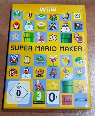 Juego WiiU Mario Maker como nuevo.