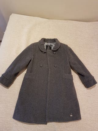 Abrigo niña 4-5 años gris oscuro