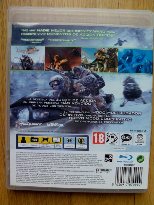Juego PS3 Call of Dutty