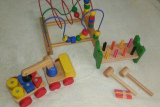 Juegos educativos madera 2-4 años