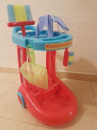 carrito limpieza juguete