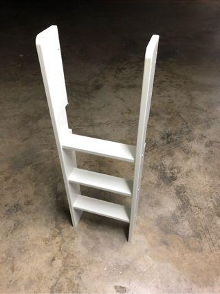 Escalera y patas FLEXA cama media-alta blanco
