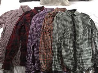 Lote 5 camisas cuadros talla S