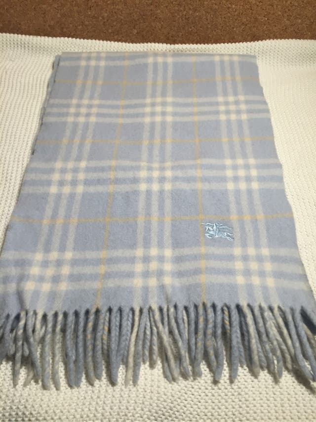 Bufanda Burberry London Azul Original De Segunda Mano Por 40 En