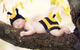 Atrezzo disfraz abeja para fotografías a bebé