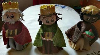 Reyes Magos de goma eva