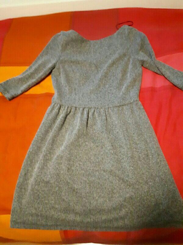 Vestido gris talla s