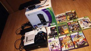 Xbox 360 + kinect + juegos chulos
