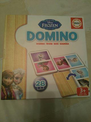 Juego dominó niños frozen