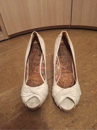 Zapato tacon blanco
