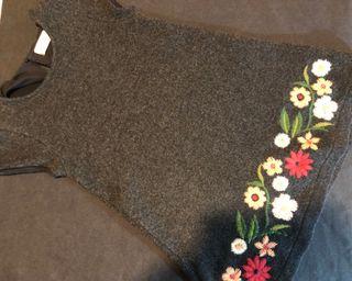 Vestido punto bordado Zara 6 años