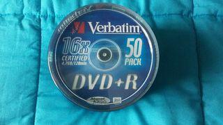 50 DVDs + R 16x VERBATIM tarrina PRECINTADA