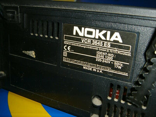 reproductor VHS Nokia sin mando vcr 3645