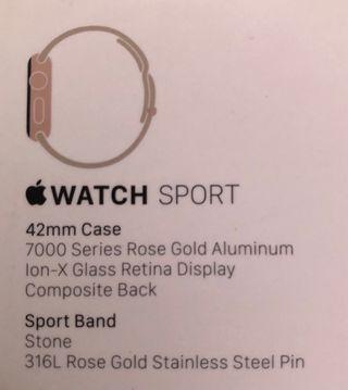 Apple Watch 42mm Rosa
