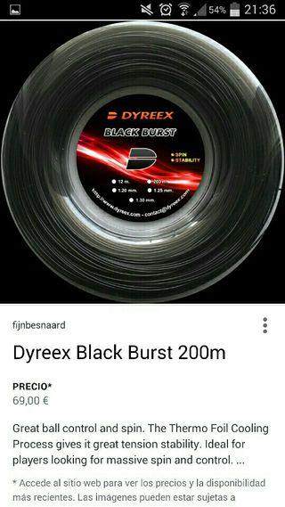 Rollo Cordaje Dyreex Black Burst