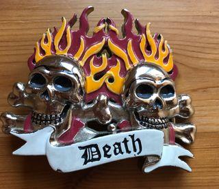 Hebilla cinturón DEATH y LLAMAS