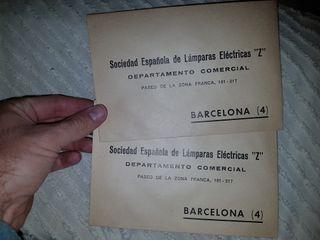 Sobres de Lampara Z antiguos