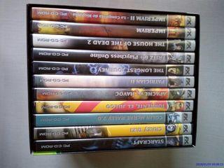 11 Juegos para PC. En su caja original.