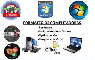 Formateo de PC y Portatiles.