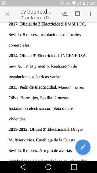 Busco Trabajo Electricista