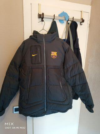 chaqueta plumon fc barcelona