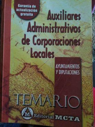 temario auxiliares administrativos
