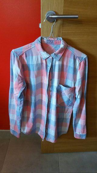 camisa cuadros Pull&bear