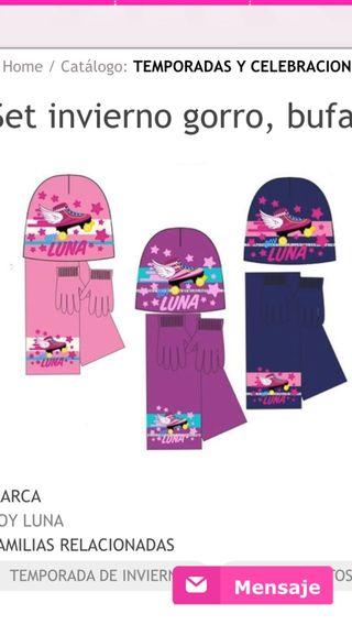 Soy Luna conjunto de gorro bufanda y guantes