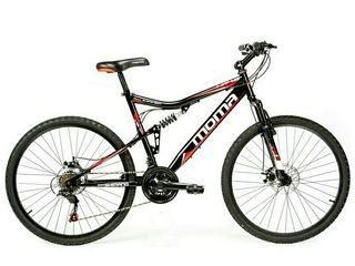 Bicicleta montaña mtb26 Shimano 21v doble susp.