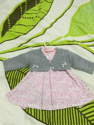 Vestido de bebe con body