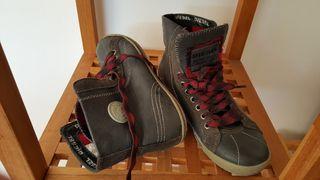 zapatillas diesel de piel