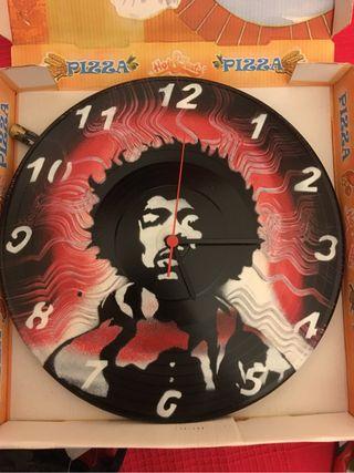 Reloj Pared Disco Vinilo Jimmy Hendrix