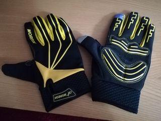 guantes bici amarillos