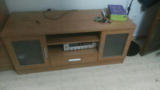 Mueble tv mas cristalera y mesa ze centro a juego