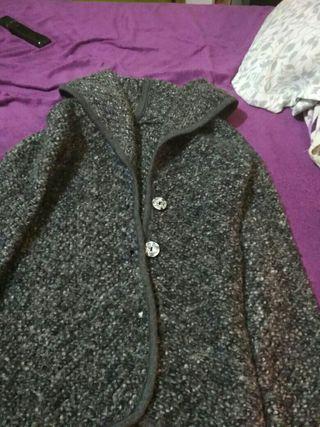 chaqueta de lana gris marengo