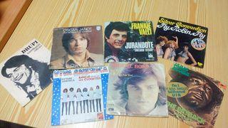 Lote de discos singles de vinilo