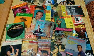 Discos singles de vinilo antiguos
