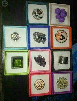 colección de anillos.