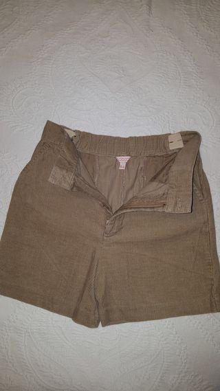 Pantalon corto pana niño