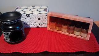 Quemador + aceites + velas